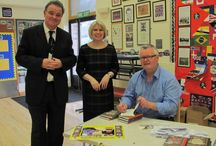 FREE School Author Visit - www.jacktrelawny.com / This board shows images from a typical FREE School Author Visit: Assembly Presentation - Questions & Answers - Book Signing - After Visit Activities including pupils adding Pins on school's own Pinterest Board. Email: info@campionpublishing.com for a free visit.