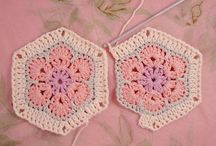 Granny square, african flower & co. / Granny square, bags & istructions DIY