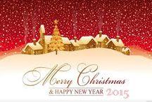Frohe Weihnachten und ein gutes neues Jahr / Ein friedliches Weihnachtsfest und alles Gute für das kommende Jahr wünscht Ihnen