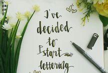 my lettering portfolio #dsletteringjourney