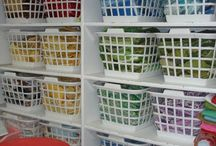 Scrap Fabric Storage Ideas / Ways to help deal with the all the scraps from quilting.
