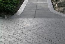 Concrete drive way