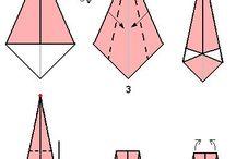 origamy / papírové skládačky