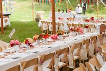 colorful Fourth of July wedding