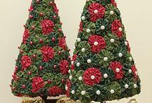 Natal árvore fuxicos