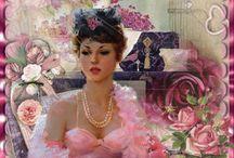 gif rosa / mis  trabajos bellos en gif de color rosado