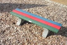 Recycled Plastic Bench Boards / Recycled plastic bench boards can be used to replace existing rotten or broken boards on benches. hanit® recycled plastic bench boards are suitable for almost any common type of base frame and put an end to time consuming and cost-intensive maintenance.  Properties such as weather and decay resistance, humidity repellence and being splinter-free assure a long useful life in addition to comfortable, attractive seating.  http://www.hahnplastics.com/hanit-bench-boards/