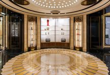 Shoe Heaven - Harrods / This beautiful installation was completed by TTA Member Trainor Stone & Tile Ltd in 2014. This project won Best Use of Tile in a Commercial Contract at The Tile Association Awards 2015.