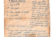 Old Wonderful Recipes - Thank You Ladies / Thank you to all those wonderful cooks who went before us.  Hopefully we are able to do justice to your gems.  So often in the past, recipes were not written down.   I'm very grateful for these little treasures and that they can be shared! / by Bertha Phillips