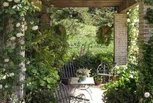 Zahrada - pergoly a posezení