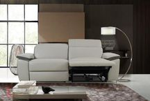 Light Grey Top Grain Leather Furniture