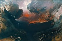 The High Kitsch and Epic landscapes of John Martin / John Martin was raised in a one room english cottage in a small Northumberland town, Haydon Bridge. From this modest upbring Martin would go on to create a vast collection of historical landscapes and a fortune to match. He was Influenced by the work of J.M.W. Turner as well as other history & landscape painters like Theodore Gericault and Salvator Rosa.