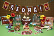 Luau Birthday Party Collection