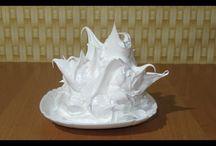 varený bielkový krém na zdobenie torty.