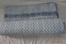 Hand Block Print 100% Cotton Kantha Quilt