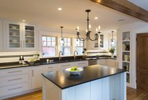 Traditional White Inset Kitchen / #kitchens #whitekitchen #traditional