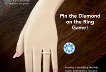 Wedding shower games / Fred's Pin the Diamond on the Wedding Ring Game! Having a wedding shower soon, and need a fun and entertaining game to play that ALL will enjoy and talk about for days and weeks to come. Then this game is it!