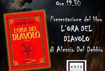 L'ora del diavolo / L'ora del diavolo, di Alessio Del Debbio, Sensoinverso Edizioni, antologia di racconti fantastici ispirati a leggende della Lucchesia e delle Alpi Apuane.