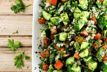 Summer salads / Variety of different ways one can prepare salad