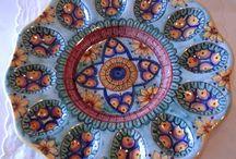 Ovarola/ Antipastiera in amiolica dipinta a mano, by ilciliegio, 22,00 € su misshobby.com
