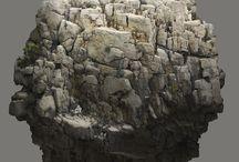 rocks / .