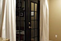 French door window treatments