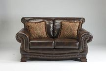 LEDELLE DURABLEND - SADDLE LOVESEAT