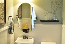powder bathroom ideas / by Yessy Mendoza-Tate