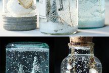 Bolas de vidrio, en frasco