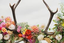 Decorating with antlers / We love antlers!! No room is complete without them. Here we have lots of different ways to use them from jewellery hangers & chandeliers to wedding tables.
