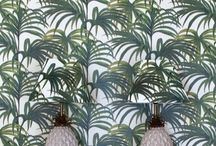 Tropical Wallpaper / A collection of lush and beautiful wallpaper all perfect for creating a feel of the tropics complete with palm leaves, lush foliage and bright flowers http://www.wowwallpaperhanging.com.au/tropical-wallpaper/