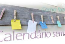 DIY: como fazer calendário semanal