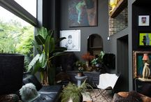 Black walls interior