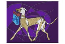 Italian Greyhounds / All things art and products inspired by Italian greyhounds
