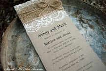 wedding invitations / by Rachael Engelmann