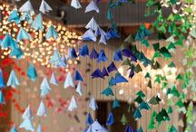 Hanging Installations / Ideas and inspiration for hanging installations over estate tables, dance floors, etc...