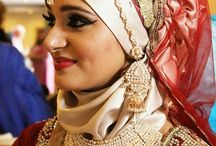 Bridal wear with Hijab