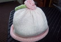 Baby cap knitting