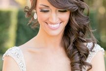 Wedding hairstyles - makeup
