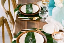 """{Theme} Tropical / """"Live in the sunshine. Swim in the sea. Drink the wild air."""" - Ralph Waldo Emerson   Pineapples, palms, flamingos--everything fun under the sun that's tropical wedding inspiration!"""