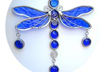Stained Glass - Dragonflies