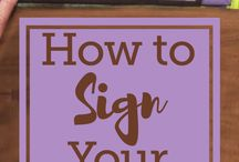 How to sign your quilts
