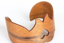 Natarti / Natural Art and Design /  Curved wood jewelry by natural materials