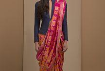 saree western look
