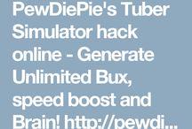 PewDiePie's Tuber Simulator hack bux and brains!