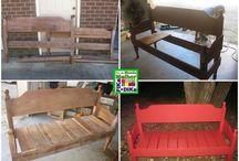 Sofás de madeira e palete