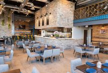 Broken Barrel   Restaurant Design / Located in The Woodlands, Tx, Broken Barrel is a local restaurant that's ideal for a quick bite, great cocktails, and exquisite coffee! Method Architecture utilized our Wheaton Wallboard for the interior accent walls of the space to highlight the industrial, yet contemporary style of the eatery.  Photo Creds: Chuck Cook Photography   Architect: Method Architecture