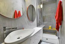 Bathrooms with KOURASANIT materials