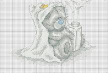 Korsstygn björn