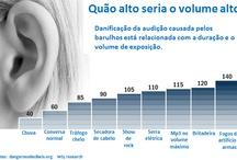 Infográficos sobre a audição